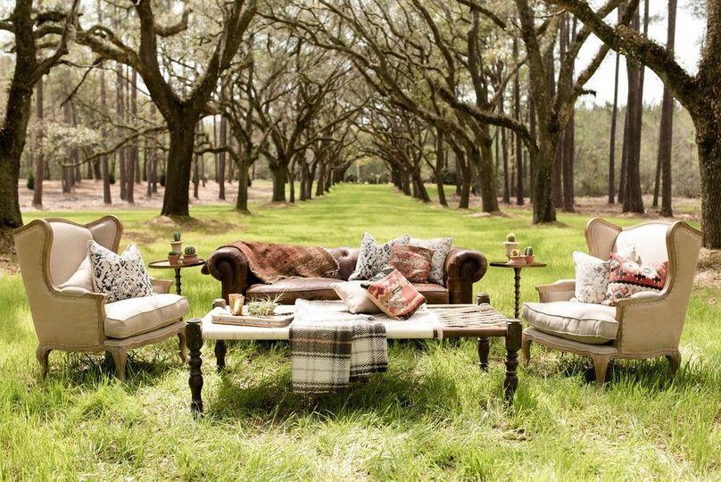 Unique outdoor seating