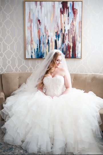 Portraits in the bridal suite