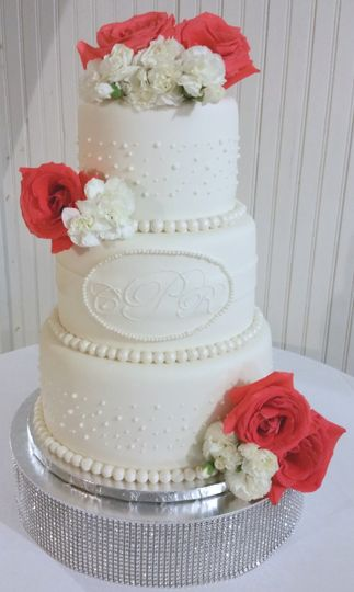 Traditional White wedding cake contains 78 servings.