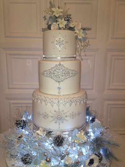 Beige wedding cake