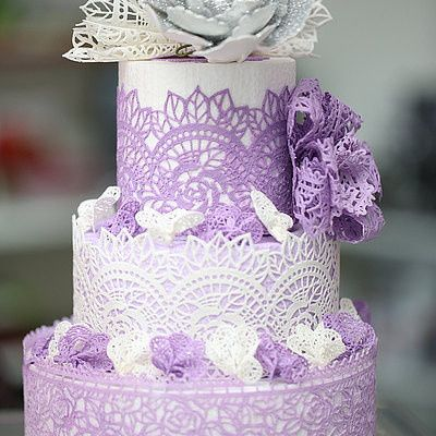 Tmx 1484750975489 Lavendar Columbus, OH wedding cake