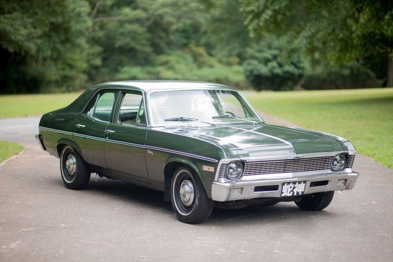 1971 forest green Chevy Nova