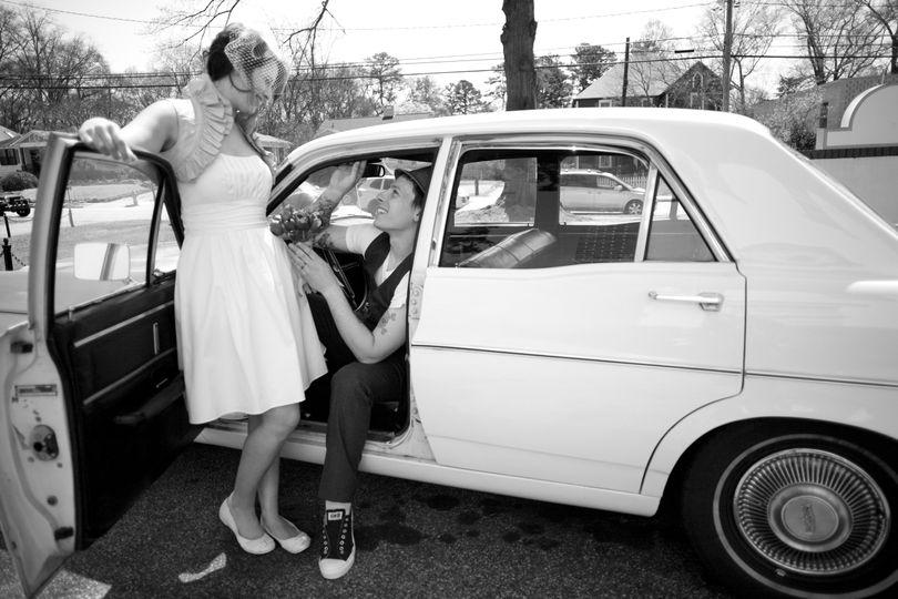 1968 White Ford Falcon