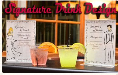 Coming up with Couple's Signature Drinks is our specialty!