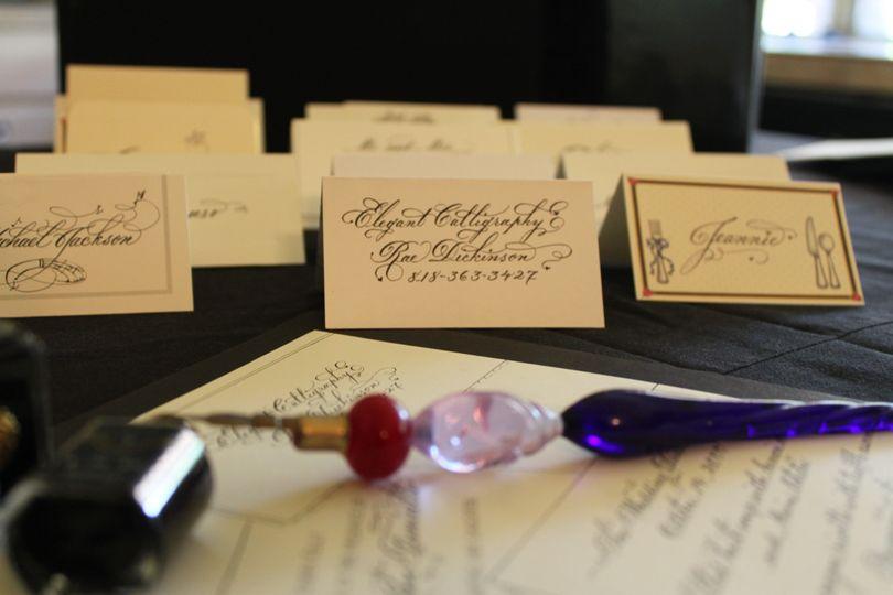 pen in front callig