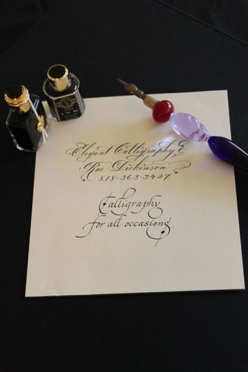 callig name and pen