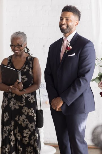 Officiant and the groom