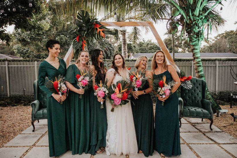 Bridesmaids Tropical wedding