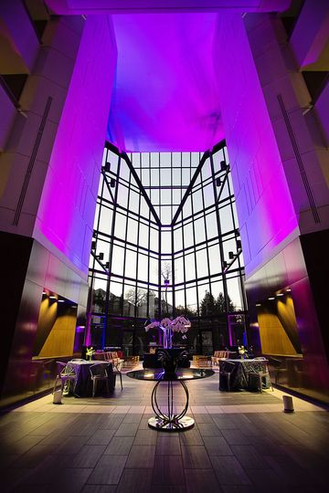Beautifully lit lobby