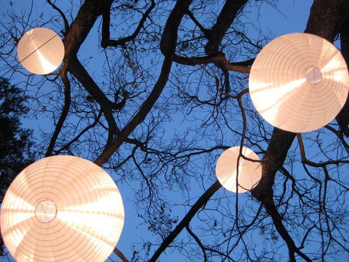 Hanging lightning balls