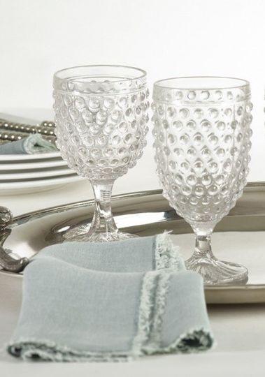 clear hobnail goblets