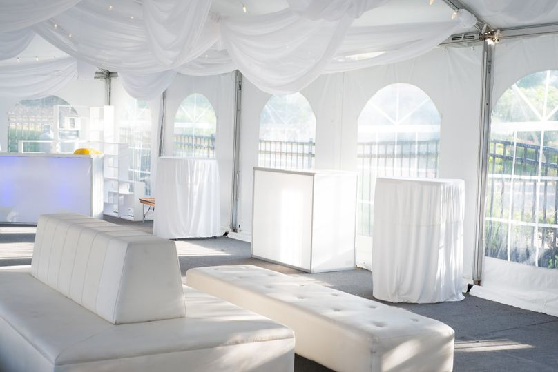 Tent decor and furniture