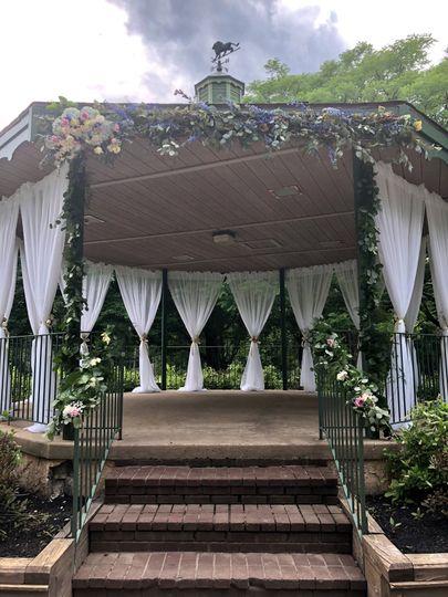 Pavilion draping