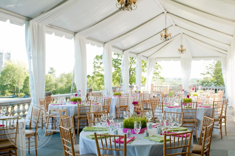 Tent liner and chandeliers