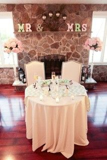 Table set up for the couple
