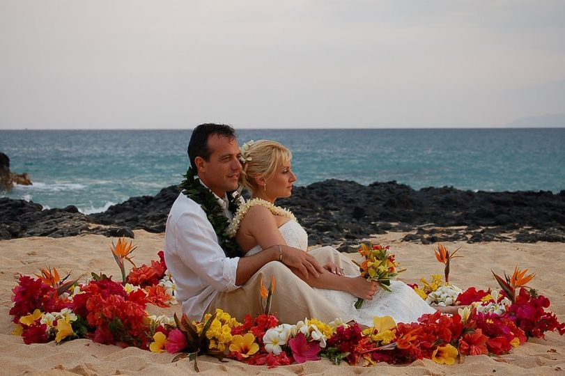 Couple at Makena Cove, Maui, Hawaii,