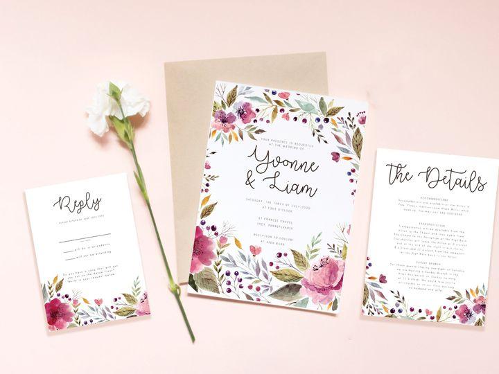 Tmx Violetmockrgb 51 1041081 Auburn, PA wedding invitation