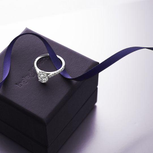 Engagement ring & box