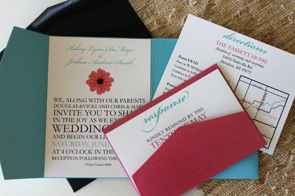 Tmx 1300300098122 IMG1650 White Pigeon wedding invitation