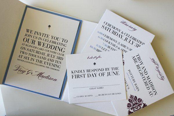 Tmx 1300300539513 IMG1831 White Pigeon wedding invitation