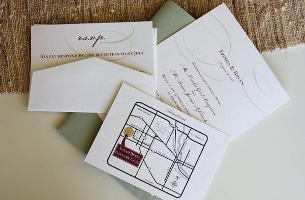 Tmx 1300301636497 IMG1812 White Pigeon wedding invitation