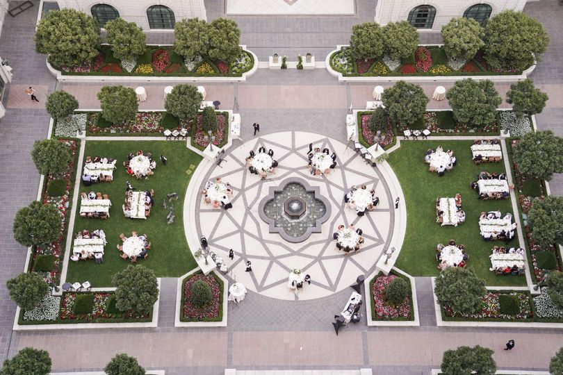 The Center Courtyard from above