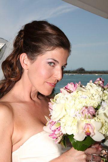 bridal hair bouquet