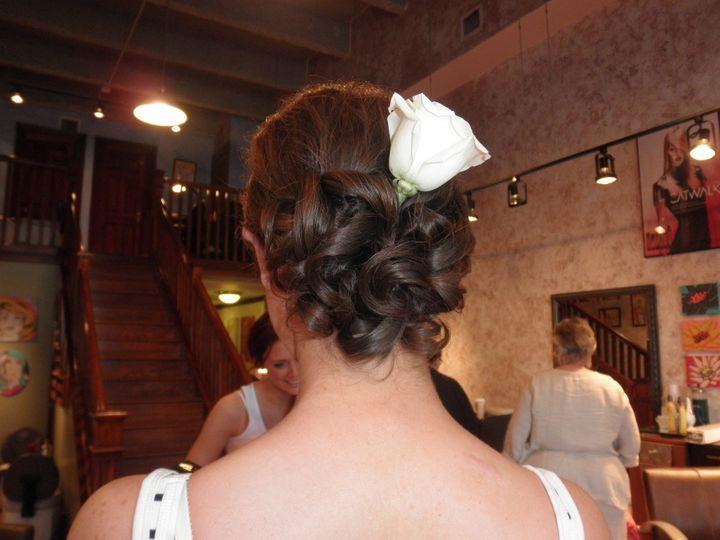 bridal hair infinity