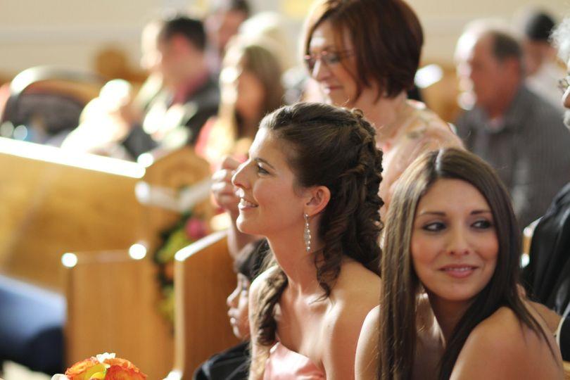 family bridal hair