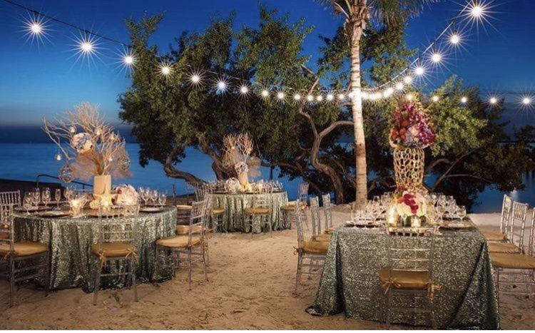 Beach reception lighting