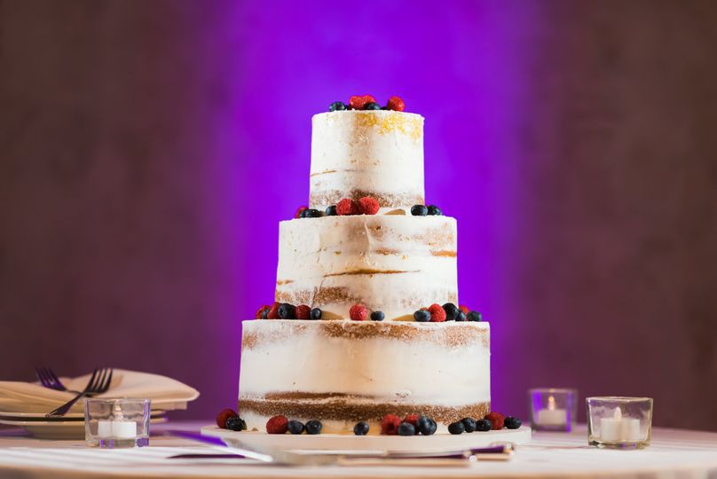 3-tier berry wedding cake