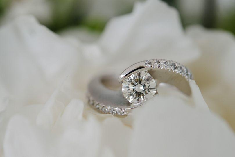 Custom bypass engagement ring