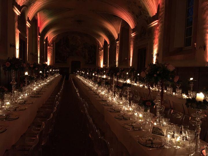 Long hall table setting