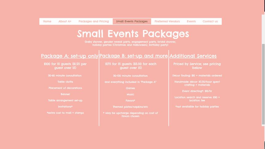 Wedding Event Planning Packages: A+ Wedding Planning