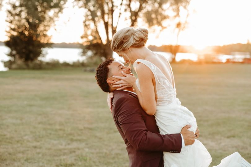 Golden Hour Newlyweds
