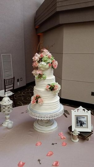 April Wedding Cake