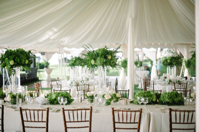 Lake Minnetonka tented reception
