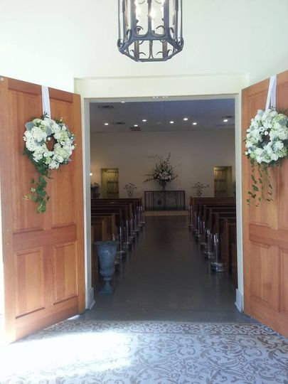 Open chapel doors