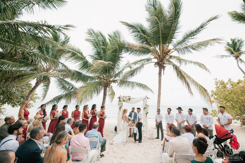 Wedding on a private beach