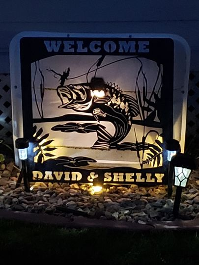 Lighted Yard Sign
