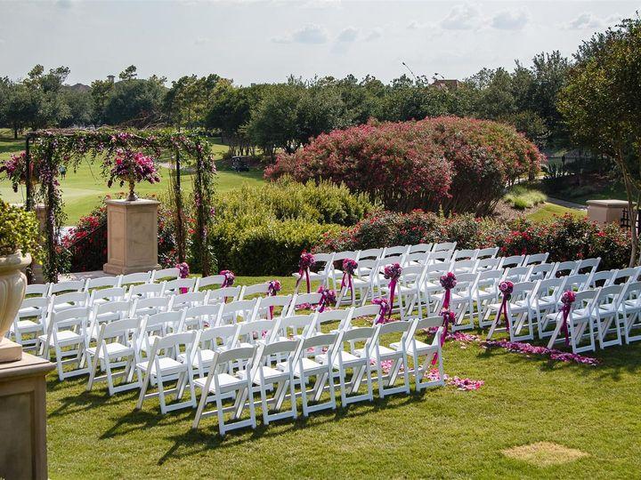 Tmx 1374621068401 Fuchsia And Purple Wedding Ceremony Houston, TX wedding florist