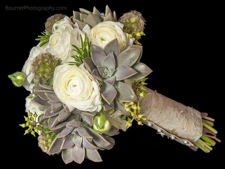 Tmx 1390686734783 White Ranunculus And Succulent Bridesmaid Bouque Houston, TX wedding florist