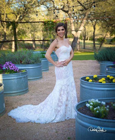 Beautiful Bride In Garden