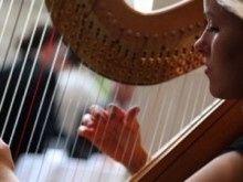 Harpist Suzanne Sugar
