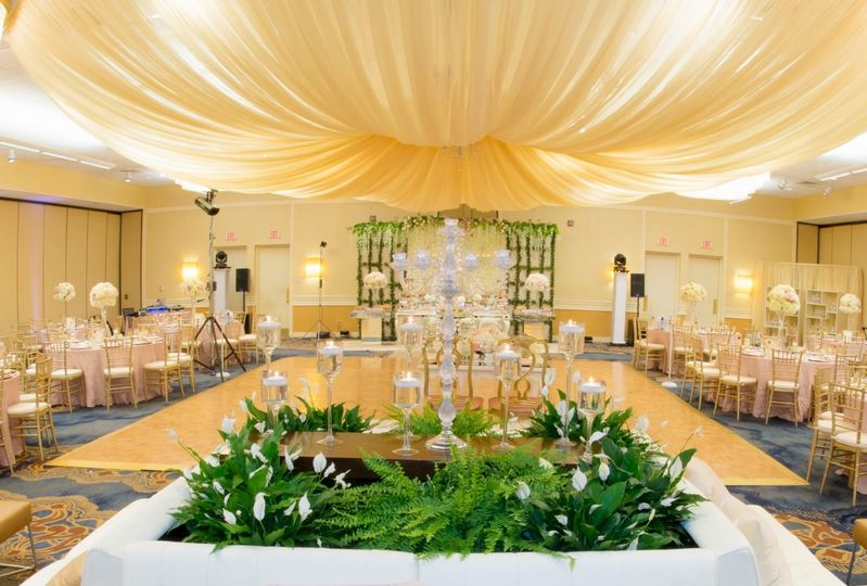 Beautifully Decorated Ballroom