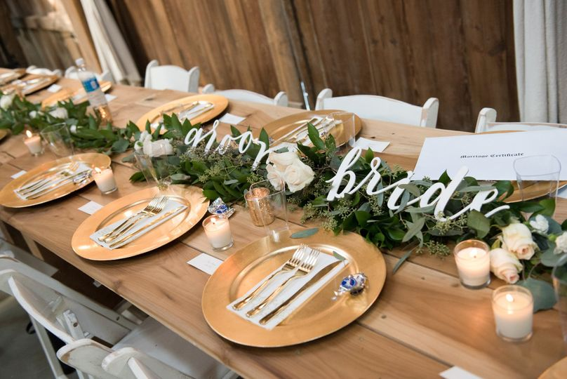 Simple but elegant table set-up