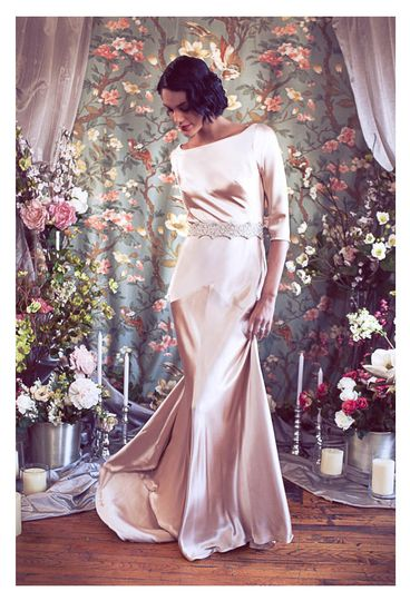 800x800 1375815579885 bateau neck deco low back satin mermaid bridal  gown b
