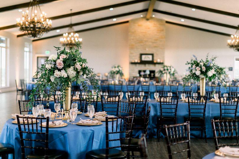 A beautiful blue ballroom