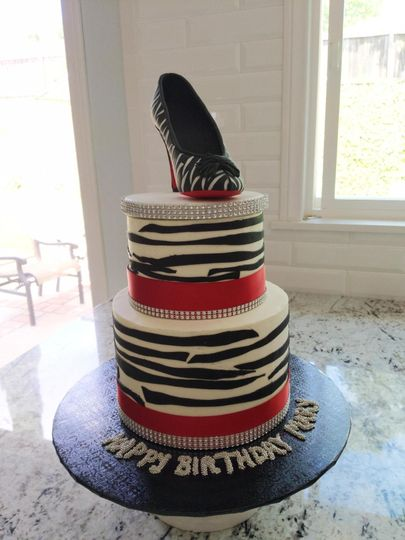 Zebra Stiletto Cake