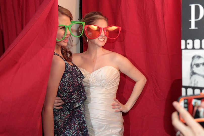 Bride at the photo booth